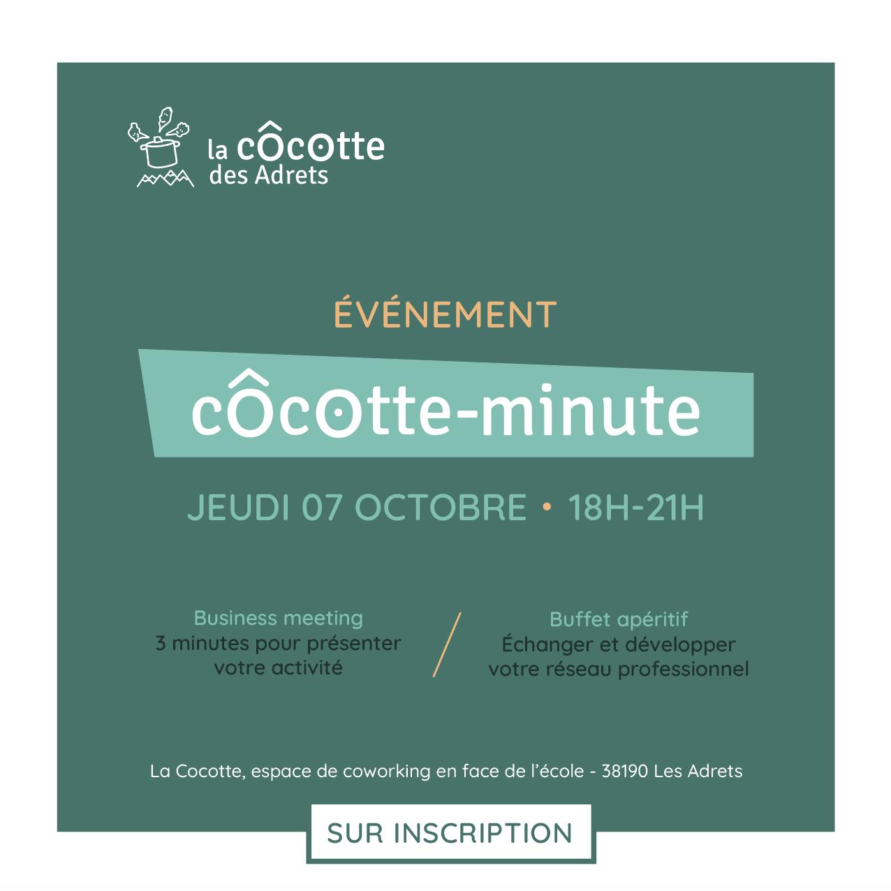 Côcotte-Minute > business meeting >  jeudi 7 octobre